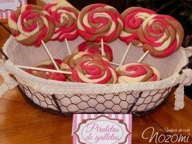 Piruletas de galleta